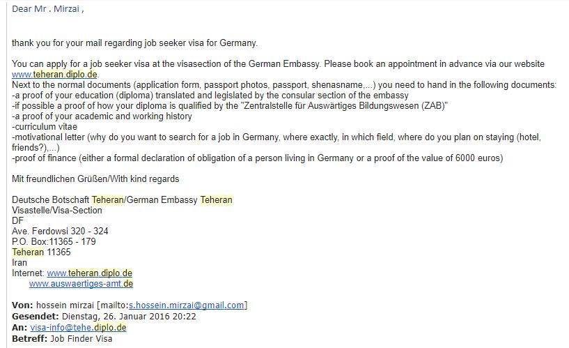 تعیین وقت سفارت آلمان