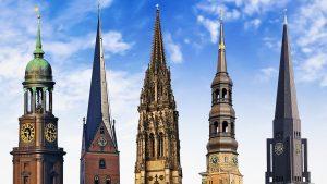 sehenswert sind Hamburgs Hauptkirchen